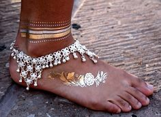 $28>> Imported >> Ankle adornment is common all over India but originated in Egypt. >> Base metal   >> Relaxed fit