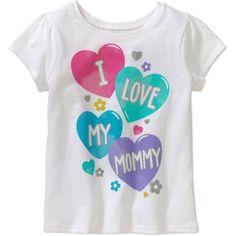 Garanimals Toddler Girl Short Sleeve Graphic Tee, Size: 25 Months, White