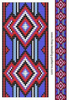 free ... red white & blue beadwork pattern