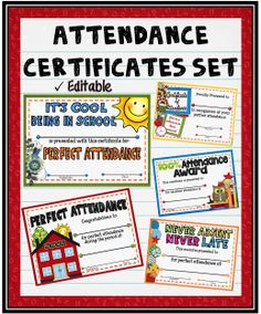 Perfect attendance Award Printable - 30 Perfect attendance Award Printable , This Printable Certificate Showing Jesus On the Cross is Attendance Incentives, Attendance Board, Perfect Attendance Certificate, School Attendance, Attendance Ideas, Counseling Activities, School Counseling, Award Template, Report Template