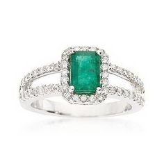 Black Hills Gold Engagement Carat Emerald and ct. Diamond Ring in White Gold - Description Shimmering and gorgeous, our carat emerald-cut emerald and ct. diamond ring features an open-shank band covered in sparkling diamonds. Emerald Ring Vintage, Emerald Diamond, Emerald Rings, Emerald Cut, Ruby Rings, Diamond Rings, Diamond Brooch, Emerald Jewelry, Natural Emerald