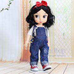 好娃衣 美国迪士尼沙龙娃娃衣服 白色T恤加吊带裤 可爱娃衣-淘宝网