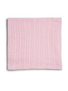 Rachel Riley - Infant's Pink Cable-Knit Cashmere Blanket