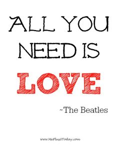 Make a Difference Monday Blog Link Up - All you need is love. ~The Beatles Quote - www.MePlus3Today.com