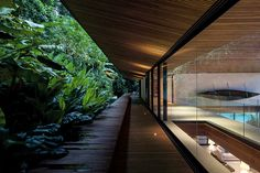 Jacobsen Arquitetura design an open space house with transparent façades on an island in Angra dos Reis, Brazil - CAANdesign Architecture Design, Tropical Architecture, Chinese Architecture, Architecture Office, Futuristic Architecture, Contemporary Architecture, Villa, Metal Structure, Interior And Exterior