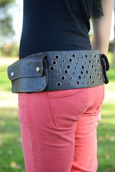 1579744f55dcb Pixie Leather Utility Belt Festival Belt Pocket by lallidesign Leather  Utility Belt