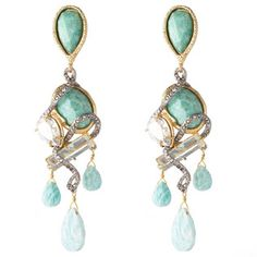 Moonlight Encrusted Vine Chandelier Clip Earring