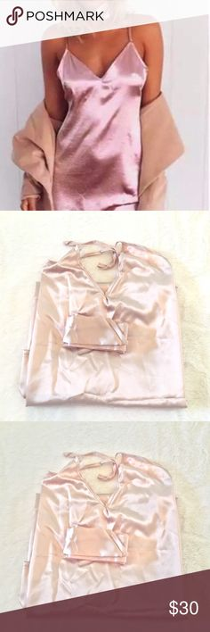 Silky pink choker dress Matching choker super cute silky choker dress Size medium Brand new straight from wholesaler Will ship same day or next day Dresses Mini