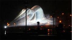 GLOW 2013 Eindhoven roaring dragon, light art festival the Netherlands