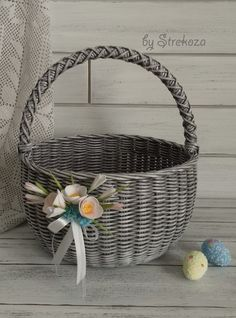 Error - In contact with The Effective Pictures We Offer You About DIY decorating A quality picture can tel - Paper Basket Weaving, Willow Weaving, Baskets On Wall, Wicker Baskets, Handmade Soaps, Handmade Crafts, Bussines Ideas, Newspaper Basket, Wedding Gift Wrapping