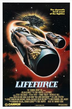 Lifeforce (1985) Lucky No.13 of my 31 days of horror movies. This movies has it all...Zombies, Vampires, Aliens, Swords, Patrick Stewart, a cool guy in a trenchcoat