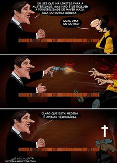"GENIAL!!  ""A lei de Passos"".  Cartoon de Henrique Monteiro..."