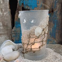 Candle Holder Romantic Beach Comber Sand Dollar with by JabberDuck, $17.00
