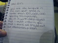 Ridiculous BreakUp Notes Funny Gags And Humor - 21 hilarious reasons break someone