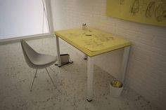 The Post-It Table is for when your ideas are just too big for that miniature yellow pad. The tabletop is composed of super-size Post-It notes that you can write all over, then hang them up on the wall to remind you of your brilliant ideas.