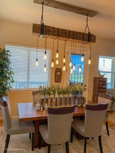 Rustic Wooden Light Fixture by 7M Woodworking Farmhouse Light Fixtures, Farmhouse Lighting, Rustic Lighting, Lighting Ideas, Diy Light Fixtures, Rustic Farmhouse, Kitchen Light Fixtures, Farmhouse Style, Industrial Light Fixtures