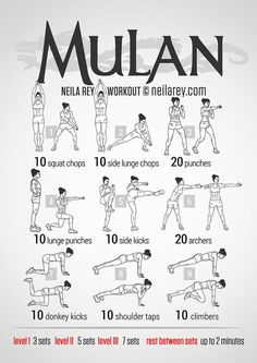 Mulan Workout by Neila Rey Fitness Workouts, Hero Workouts, Sport Fitness, At Home Workouts, Fitness Motivation, Health Fitness, Movie Workouts, Zumba Fitness, Fitness Plan