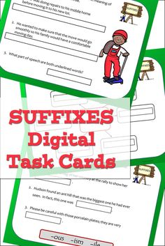 Digital task cards for Google slides to practice the grammar skill of subject verb agreement. A great skill for improving students' proofreading abilities. For language arts students in grades 4, 5, 6, an 7. Fun Classroom Activities, Vocabulary Activities, Grammar Skills, Writing Skills, Word Map, Multiple Meaning Words, Prefixes And Suffixes, Subject And Verb, Root Words