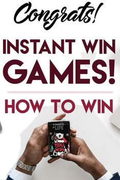 Instant Win Games and How to Win. Savings Challenge, Money Saving Challenge, Money Saving Tips, Money Savers, Saving Ideas, Free Samples By Mail, Free Stuff By Mail, Get Free Stuff, Freebies By Mail