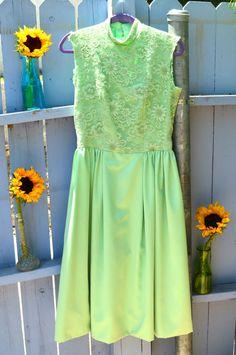 1960s Mint Green Dress by LetThemEatCakeLA on Etsy, $50.00