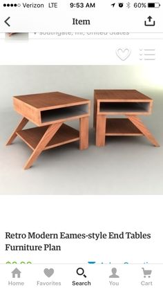 Chapter Sixteen. Living Room End Tables.