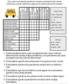 Use logic puzzles in langauge classes as a way to provide students with repeated exposure to vocabulary structures. Get easy puzzles in Spanish and French! Logic Games, Logic Puzzles, Grid Puzzles, Rebus Puzzles, French Classroom, Spanish Classroom, Classroom Ideas, Classroom Games, Classroom Displays