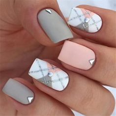 70 Gorgeous And Cute Christmas Square Nail Designs – Page 11 – The Life Idea. - 70 Gorgeous And Cute Christmas Square Nail Designs – Page 11 – The Life Ideas - Best Acrylic Nails, Acrylic Nail Designs, Nail Art Designs, Nails Design, Stylish Nails, Trendy Nails, Chic Nails, Elegant Nails, Pink Nails