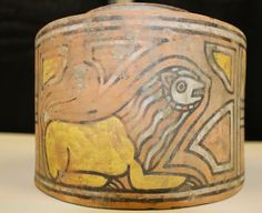 Indus Valley, 4000 b.c.e. I'm having a hard time with the sphinx on this cup.