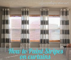 Painted gray striped curtain tutorial from @infarrantly