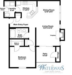 One Bedroom Floor Plan Part 94