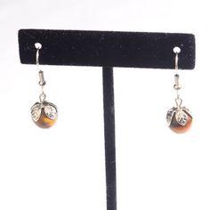 Tiger Eye Dangle Earrings with Silver by JewelryandNeatThings