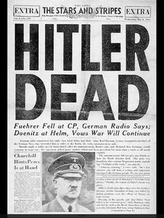 On April 30th 1945, Hitler holds his usual daily conference while the Russians, in the streets above, are only two blocks away from the Chancellery. Then Hitler and Eva Braun retire to their quarters. She takes poison, he shoots himself in the mouth. On the following day Goebbels orders SS men to give his six children lethal injections and to shoot his wife and himself. Hitler was appalled that his nation had surrendered in World War I without a single foreign soldier setting foot on German…