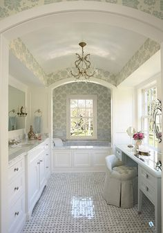 master bath: its just soo pretty and suitable for a princess. i can picture myself here
