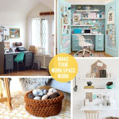 Tips and tricks to make your work space work for you, no matter how big or small! (image via Country Living)