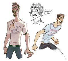 couple recent doodles mitch wearing shirts with dumb shit on them/ and jonas drooling in his sleep Amazing Drawings, Cute Drawings, Long Exposure Comic, Game Character, Character Design, Fashion Design Drawings, Creepy Art, Cute Comics, Equestria Girls