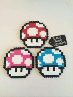 Mario Mushroom. via SuperJade Designs. Click on the image to see more!