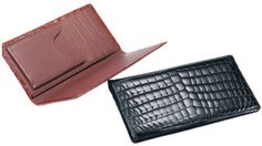 5b68ece49e36 Ferrini Genuine Crocodile Skin CheckBook Exotic Skin Wallet ABCK (NICOTINE)  Alligator Wallet, Spectator