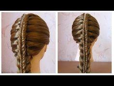 Coiffure pour tous les jours cheveux long/mi long ✬ Coiffure avec tresse ✬ facile à faire - YouTube