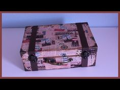 172. Manualidades: Maleta vintage o retro [Cartonaje] (Reciclaje) Ecobrisa. - YouTube