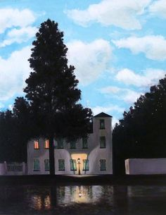 Day and Night, copy after Rene Magritte Diana Kemeny. Modern and Contemporary Art. Rene Magritte, Identity Artists, The Exorcist, Funky Art, Day For Night, Artist At Work, Oeuvre D'art, Les Oeuvres, Light In The Dark