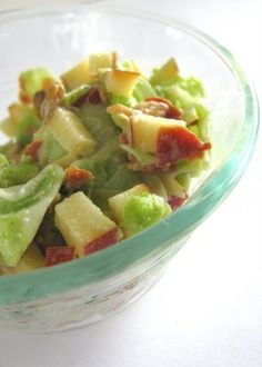 Kohlrabi Salad with Apple, Bacon and Snow Peas | I'm going to need like 8 kohlrabi recipes...the damned thing is like 6 pounds.
