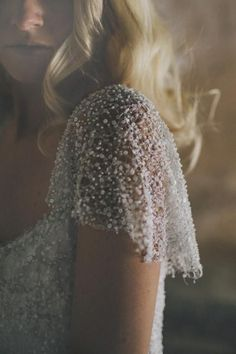 sequins and pearls for heavy cap sleeves and dress decor
