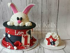 Magician party cake, Magic Party cake, Rabbit hat cake