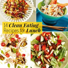 Just say no to the $13 wilted store salad. Instead, make these clean eating recipes at home for a lighter, leaner office lunch.