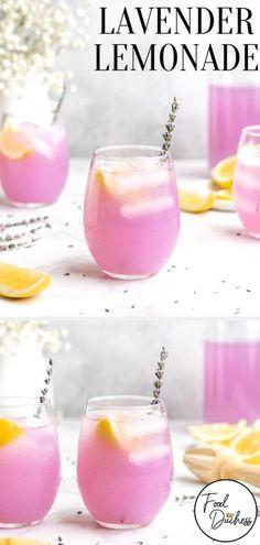 Easy Lemonade Recipe, Homemade Lemonade Recipes, Lavendar Lemonade Recipe, Lavender Water Recipe, Simple Syrup Recipe Drinks, Strawberry Drink Recipes, Ginger Lemonade, Strawberry Lemonade, Lavender Drink