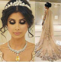 Hair and Makeup by dressyourface (Desi Bridal Shaadi Indian Pakistani Wedding Mehndi Walima) Desi Wedding, Wedding Looks, Wedding Day, Arab Wedding, Wedding Mehndi, Punjabi Wedding, Indian Bridal Makeup, Wedding Hair And Makeup, Wedding Tiara Hair