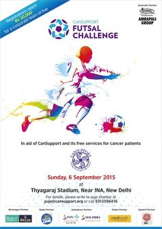 Amrapali Group has undertaken to support the fight against cancer so participated in Futsal Challenge – Play against cancer 2015.