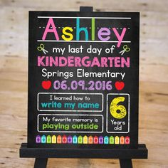 Last day of school chalkboard signs are a great way to celebrate the year!
