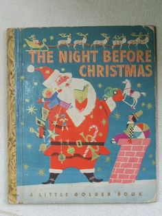 40s Christmas Book, 1949 The Night Before Christmas Little Golden Book, Childrens
