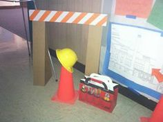 Take what you have to create a building scene. Hardhats. Caution tape. Toolboxes. Cones. Blueprints. This scene was sent in by one of you in VBS Land. It is being used at his/her church for a building project. Great tips indeed! www.cokesburyvbs.com
